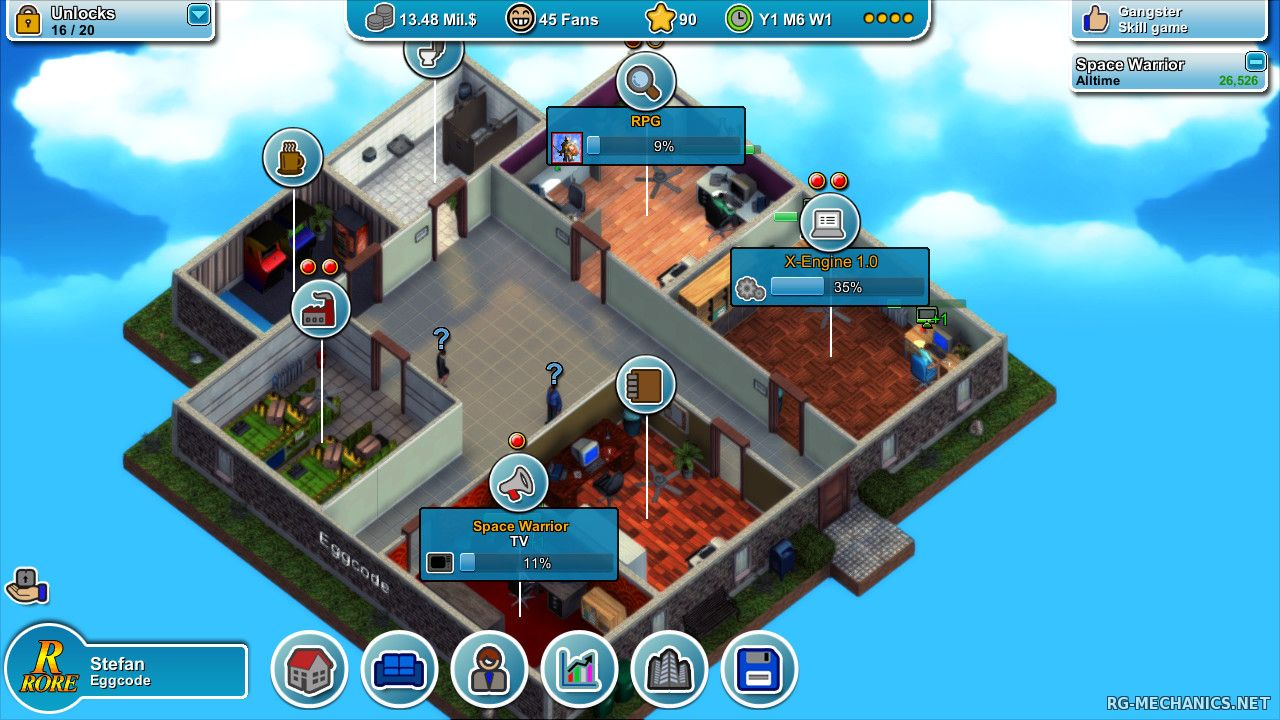 Скриншот к игре Mad Games Tycoon [v0.160523A] (2015) PC   Repack