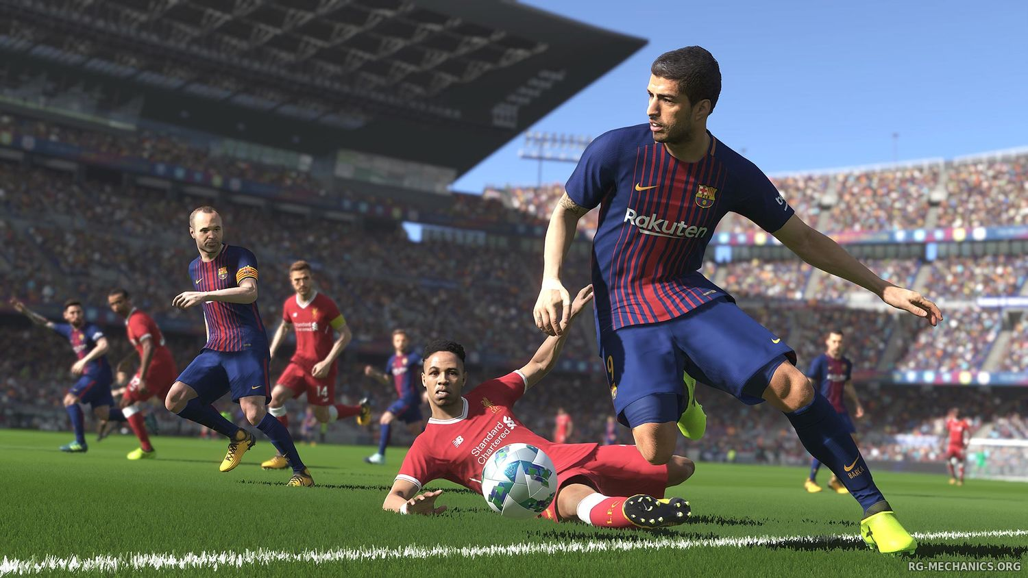 Скриншот 1 к игре PES 2018 / Pro Evolution Soccer 2018: FC Barcelona Edition (2017) PC | RePack от R.G. Механики